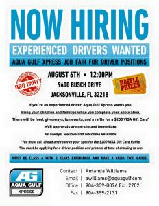 Agua Gulfxpress August 6th Job Fair